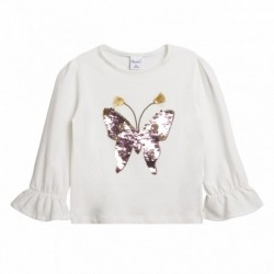 Camiseta mariposa de lentejuelas