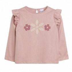 TMBB-JGI69708 mayoristas de moda infantil Camiseta rosa dorada
