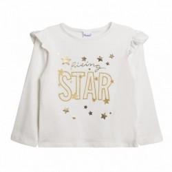 Camiseta hombros de gasa dorada star estrella
