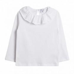 Camiseta básica cuello volante