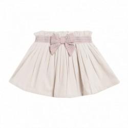 Falda cintura lazo hilos plateados