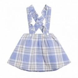 Falda tirante cuadros azules