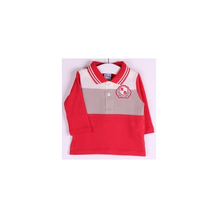 TMBB-BBI04057 Newness ropa infantiil al por mayor Polo manga