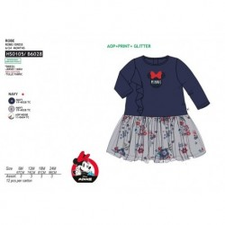 Vestido manga larga 100%algodon-SCI-HS0105-MINNIE