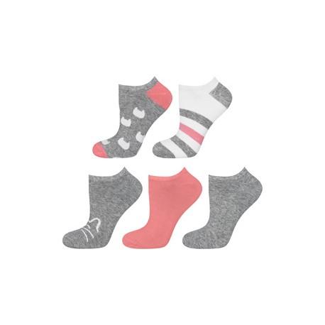 Pack 5 calcetines tobilleros