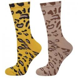 Pack 2 pares calcetines animal print