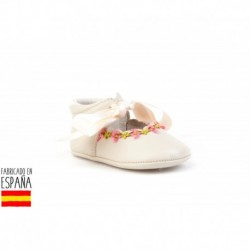 Zapatito ceremonia suela blanda de piel, made in spain - ANGELITOS - ANGI-253