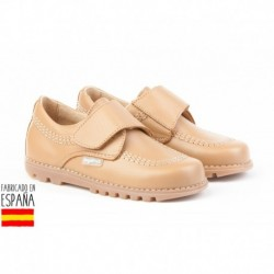 Mocasines piel con cierre velcro, made in spain - ANGELITOS - ANGI-301
