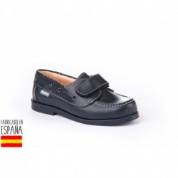 Mocasines piel con cierre velcro, made in spain - ANGELITOS - ANGI-350