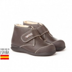 Botines piel con puntera reforzada y forro borreguillo, made in spain - ANGELITOS - ANGI-410
