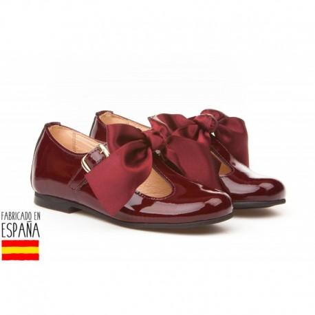ANGI-516 mayorista de calzado infantil Merceditas charol