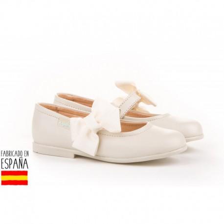 ANGI-519 mayorista de calzado infantil Merceditas piel detalle