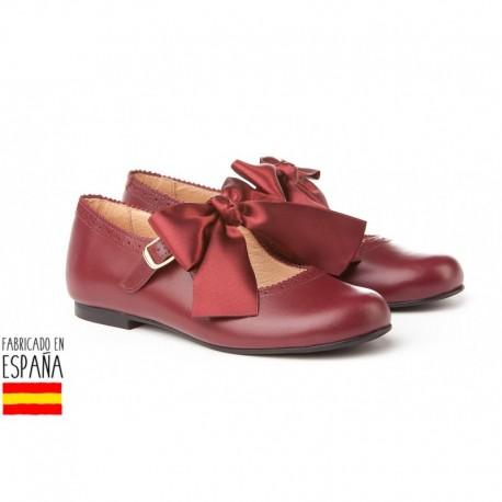 ANGI-691 mayorista de calzado infantil Merceditas piel detalle