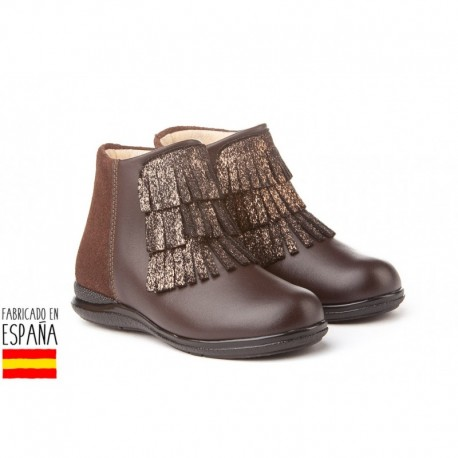 ANGI-750 mayorista de calzado infantil Botines bajos piel con