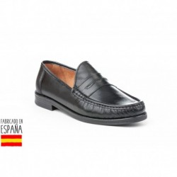 Mocasines lisos de piel, made in spain - MAÑAS - ANGI-1022