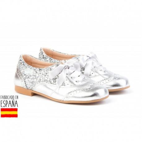 ANGI-1396 mayorista de calzado infantil Mocasines glittler