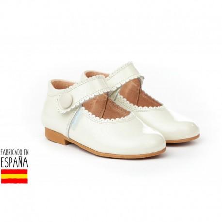 ANGI-1502 mayorista de calzado infantil Merceditas charol