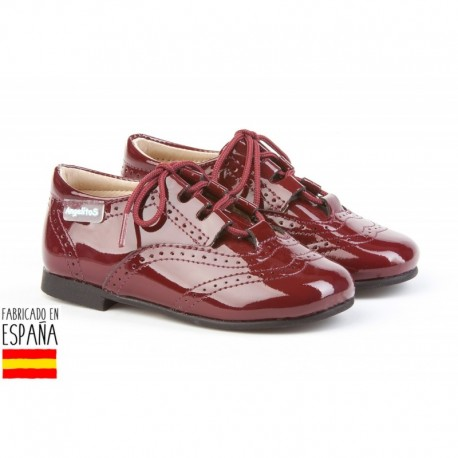 ANGI-1505 mayorista de calzado infantil Mocasines charol