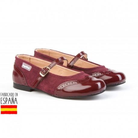 ANGI-1525 mayorista de calzado infantil Merceditas charol