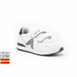 Deportivas de corte clásico y cierre doble velcro, made in spain - ANGELITOS - ANGI-1987