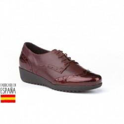 Mocasín de piel con cierre cordones, calzado extra cómodo, made in spain - EVA MAÑAS - ANGI-2997