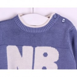 Jersey manga larga punto 100% algodón