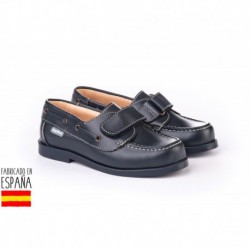 Mocasines piel con cierre velcro, made in spain - ANGELITOS - ANGI-350-1