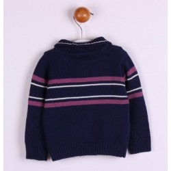Jersey manga larga cuello botones