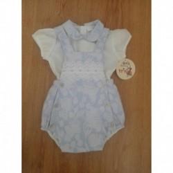 Conjunto ranita y camisa cuello bebe-ALM-7017-J
