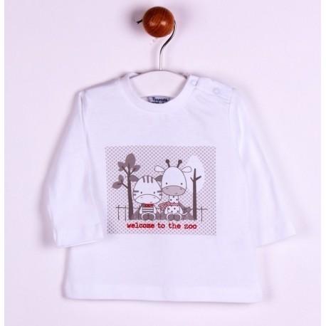 Comprar ropa de niño online Camiseta con zebra-ALM-BBI04046