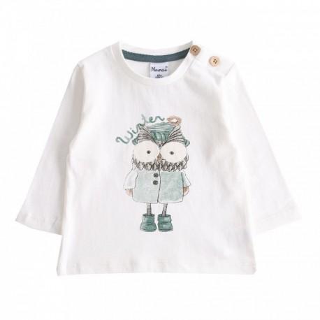 Comprar ropa de niño online Camiseta con búho-ALM-BBI67079