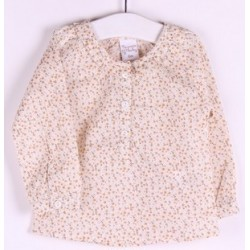 Blusa popelín manga larga estampada-ALM-BGI04518