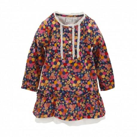 Comprar ropa de niño online Vestdido con flores-ALM-BGI05531