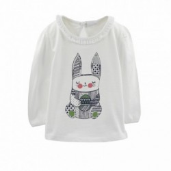 Camiseta manga larga detalle cuello y dibujo conejito-ALM-BGI05542