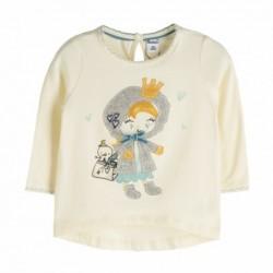 Camiseta manga detalle dibujo larga dibujo-ALM-BGI06544
