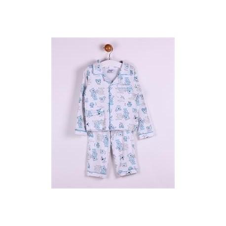 Comprar ropa de niño online Pijama largo 2 piezas algodón con
