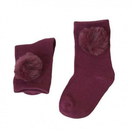 Comprar ropa de niño online Calcetín pompon