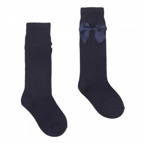 Comprar ropa de niño online Calcetín medio plano con lazo