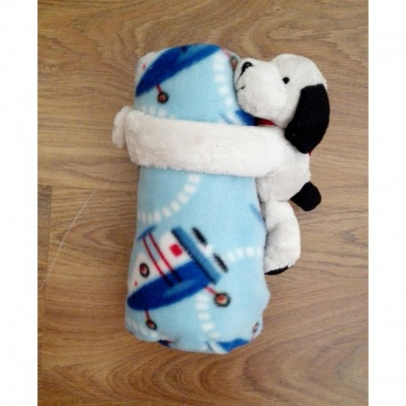 Comprar ropa de niño online Mantaita + peluche perro-ALM-MM1557