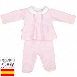 Conjunto polaina canesu cuello bebe patuco - Babidú - BDV-52320