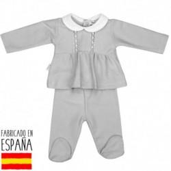 Conjunto polaina canesu cuello bebe patuco - Babidú - BDV-52320-2