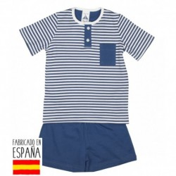 Pijama niño m/c cuello mao - Babidú - BDV-72286-1