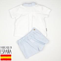 Conjunto camisa c.mao topitos - Babidú - BDV-42407-1