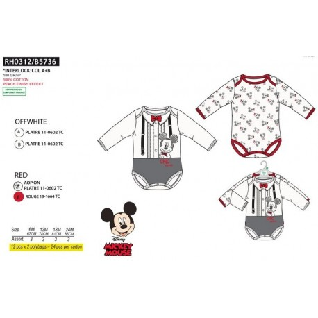 LOTE 2 BODIES MICKEY