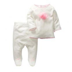 Conjunto dos piezas camiseta y pantalón ribete rosa-ALM-C-M 58510-10