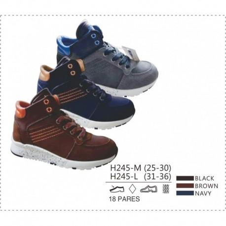 Calzado sport cierre detalle contraste y cierre cordones-DKI-H245-M-Double King