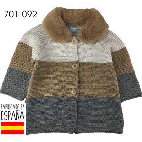 PCI-701-092 proveedor ropa de bebeChaqueta cuello pelo rayas