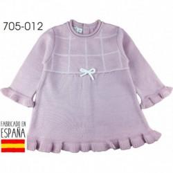 Vestido manga larga cuello redondo lacito - Pecesa - PCI-705-012