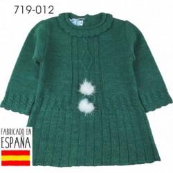 Vestido manga larga cuello redondo pompones - Pecesa - PCI-719-012