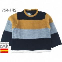 Jersey cuello redondo rayas gruesas - Pecesa - PCI-754-142